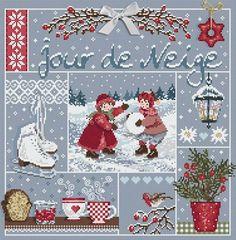 Madame la Fee, Jour de Neige, схема для вышивания крестом, купить, французская…