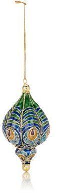 Value Arts Co.,Inc Value Arts Co, Inc Cloisonné Peacock Feather Ornament-BLUE
