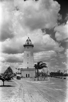 Alhambra Water Tower in Coral Gables taken between 1924 and 1929.   Florida Memory