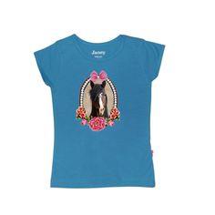 aqua blauw paarden shirt