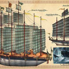 Hans ekaputra entertainment design week14 hans ekaputra 03 small Zheng He, Armada, Medieval Times, China, Futurism, Sailing Ships, Steampunk, Star Wars, Concept