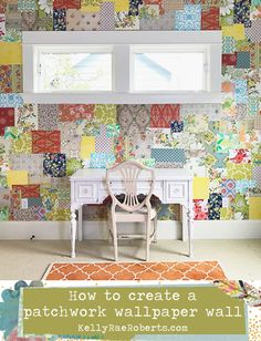 Patchwork wallpaper wall