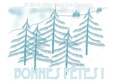 Pine trees in the snow – Bible verse Fox Design, Red Fox, Little Red, Greeting Cards, Happy Name Day, Fox