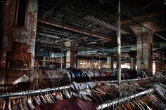 abandoned clothing factory. maryland.