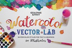 Watercolor Vector Lab  by GraphicSpirit on @creativemarket