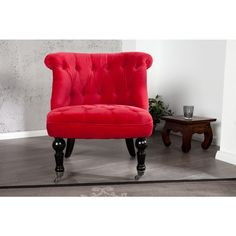 Moderne relaxstoel Josephine rood - 22754