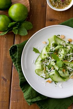 Made with a Thai inspired relish, this Thai Cucumber salad is salty, sweet, spicy and a little sour. The relish can be used on fish, shrimp, chicken and noodles!