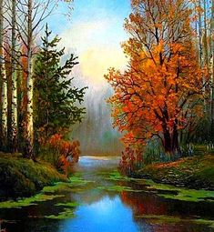 58 Best Ideas for painting bob ross landscape Watercolor Landscape Paintings, Nature Paintings, Oil Painting Abstract, Watercolor Artists, Indian Paintings, Oil Paintings, Painting Art, Watercolor Painting, Bob Ross Landscape