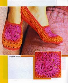 Receitas de Crochet: Pantufa