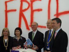 """Hoher Besuch im Kunstpalais: Bundestagspräsident Dr. Norbert Lammert besucht die Ausstellung """"Freiheit!"""""""