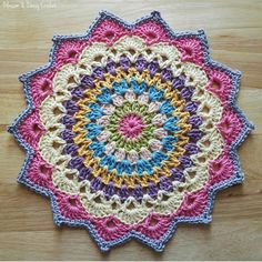 Most Popular Crochet Mandala Doily Dream Catchers 66 Ideas Free Crochet Doily Patterns, Crochet Circles, Granny Square Crochet Pattern, Crochet Motif, Crochet Designs, Crochet Flowers, Crochet Stitches, Knit Crochet, Mandala Crochet