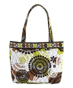 This Cocoa Moss Petite Tote by Vera Bradley is perfect! #zulilyfinds. Woo Hoo!!! Lots to choose from!!