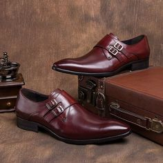 Shoes - Angelo Burgundy - $164.99   #shoes #men #mensfashion #menswear #bowtie #ascot #tie #cufflinks