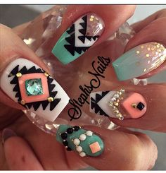 I really like these but without all the raised accents, just keep the thumb Pinterest //@Sharrstyles //