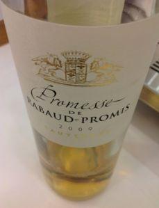 Sauternes Promesse de Rabaud-Promis 2009
