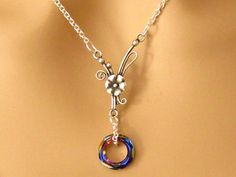 Eternity Necklace Romantic Art Nouveau Silver by martywhitedesigns, $38.00