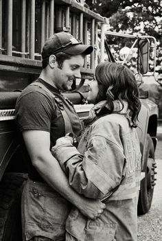 Firefighter engagement Engagement Pictures, Wedding Engagement, Engagement Session, Engagement Photography, Photography Ideas, Firefighter Engagement, Wife Pics, Firefighting, Family Pics