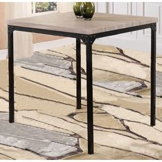 Global Medium Washed Oak Bar Height Square Dining Table