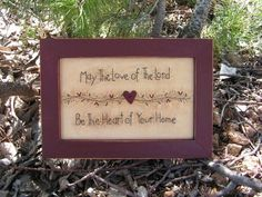 Primitive Stitchery Heart of the Home by TheBlueGooseShop on Etsy, $20.00