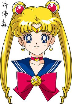 Sailor Moon Face Anime Style by xuweisen on deviantART