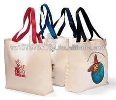 Vietnam wholesale reusable stripe canvas cotton bag