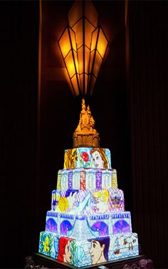 Bring your wedding cake to life with Disney's Fairy Tale Weddings cake mapping projection