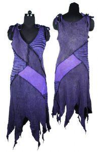 Hippy Dress~Bohemian Pixie Style Dress Funky Ripped Effect Panel Sun Dress~Fair Trade By Folio Gothic Hippy FX511