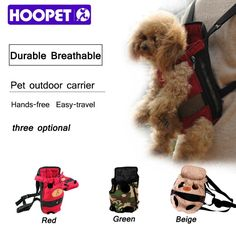 HOOPET Dog carrier fashion red color Travel doable pet bags shoulder pet puppy carrieg backpack breathr