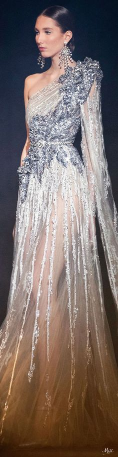 Spring 2021 Haute Couture Elie Saab Elie Saab Couture, Ellie Saab, Fantasy Dress, Fashion Sketches, Ball Gowns, Ready To Wear, Formal Dresses, Spring, How To Wear