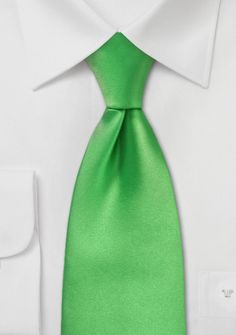 Bright Kelly Green Tie for the men
