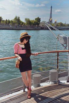 Navy Girl (by Leeloo P) http://lookbook.nu/look/3991906-Navy-Girl