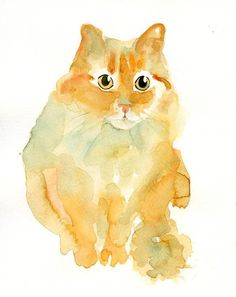 Custom  PET PORTRAIT Original watercolor painting by dimdi on Etsy, $38.00 This one looks like Pippa!! :D