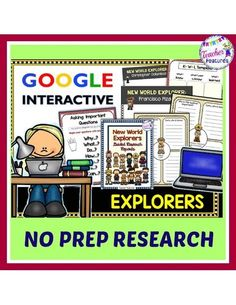 Follow the Guided Research Process and use the graphic organizer Google Slides/Google Classroom to teach your class how to navigate and organize information. Students will create Important Questions(essential questions) to provide focus to their research of explorers to the New World. #tptdigital