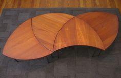 France & Daverkosen Danish Modern Interlocking Tables Set 4 mid century modern