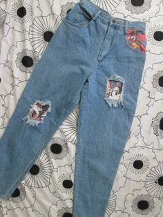 Vintage Mickey Co High Waisted 90s Denim Pants Jeans by CANDYPANTSclothing, $40.00