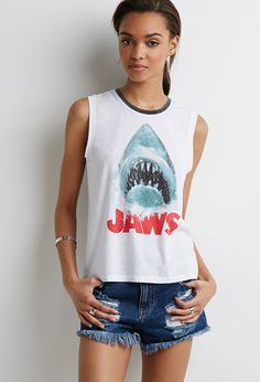 Jaws Muscle Tee | Forever 21 - 2000134209