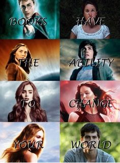 Harry Potter, The Fault in our Stars The Host, Percy Jackson, Immortal Instruments Hunger Games, Divergent and the Maze Runner Percy Jackson, Book Memes, Book Quotes, Girl Quotes, I Love Books, Good Books, Les Ames Vagabondes, Fangirl, Citations Film