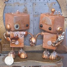 Steampunk Robots Cake Topper 15 by forgottenrobots on Etsy, $110.00