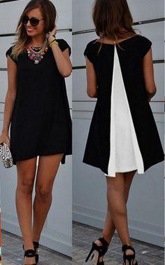Lovely Casual Chiffon Summer Mini Dress