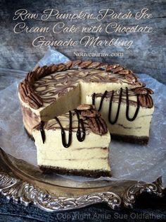 Raw Pumpkin Patch Ic     Raw Pumpkin Patch Ice Cream Cake with Chocolate Ganache Marbling  https://www.pinterest.com/pin/515591857314279994/