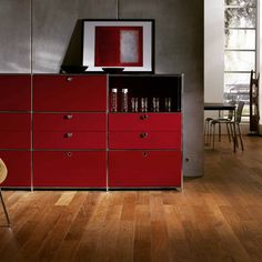 Sideboard in living room. Have a nice evening! Modular Furniture, Dining Room Furniture, Sideboard Furniture, Swiss Design, Timeless Design, Locker Storage, Cabinet, Interior Design, Office