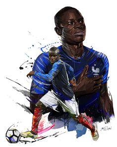 Hotel Equipe de France de Football - World Cup 2018 - Ego - AlterEgo Art Football, Football 2018, Soccer Art, Fc Chelsea, Chelsea Football, France World Cup 2018, N Golo Kante, France National