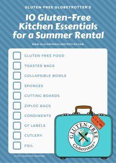 10 Gluten-Free Kitchen Essentials for a Summer Rental Gluten Free Kitchen, Gluten Free Diet, Gluten Free Recipes, Summer Checklist, Rental Kitchen, Kitchen Essentials, Feel Better, How To Plan, How To Make