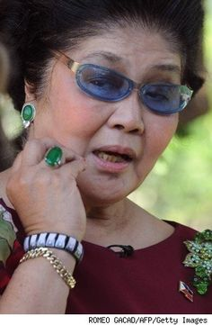 President Of The Philippines, French Clip, Ferdinand, Paisley, Emerald, Jewels, Drop Earrings, Pendant, Fashion