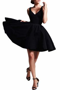 This perfect little black dress is dying to become apart of your wardrobe. This go to jersey dress has a v-neckline, v-shaped back, fit and flare silhouette and tank straps. The bottom horsehair hem is detailed with three layered stitching. Perfect for any special occasion.   Perfect LBD by Mac Duggal. Clothing - Dresses - Cocktail Clothing - Dresses - LBD Illinois