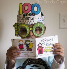 100th Day of School ideas…glasses, headband, and leveled readers.