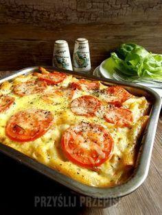 Zapiekanka makaronowa na szybko Diabetic Recipes For Dinner, Dinner Recipes, Healthy Recipes, Polish Recipes, Penne, Food Porn, Food And Drink, Meals, Cooking