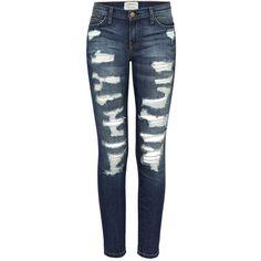 Current/Elliott Denim The Stiletto Jeans (€386) ❤ liked on Polyvore