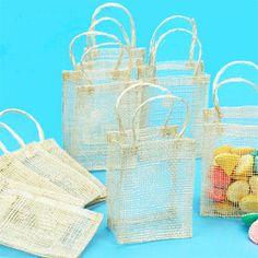 Medium Sinamay Wedding Favor Bags - 10 pcs