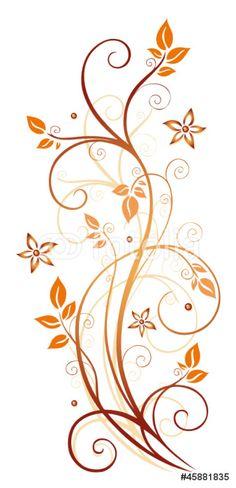 Carta da Parati in Vinile Autunno, cornice, foglie, foglie, vite, colori autunnali - Piante